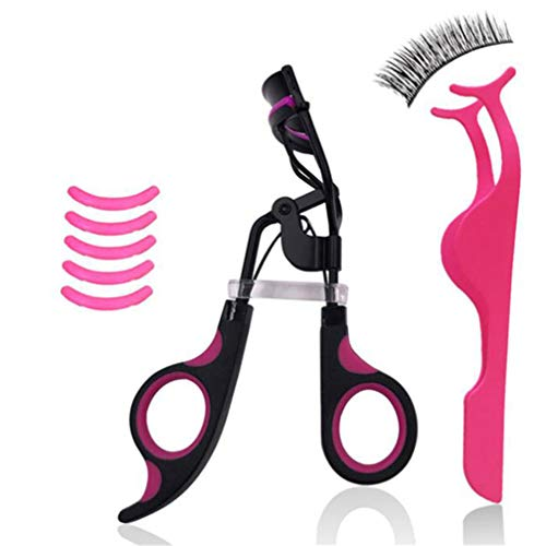 BUHBU Professioneller Griff Curl Wimpernzange Kosmetische Wimpern Curling Wimpern Tools Set