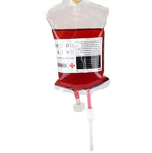 (Halloween-Blutinfusionsbeutel für Getränke, mit Trinkschlauch, 96)