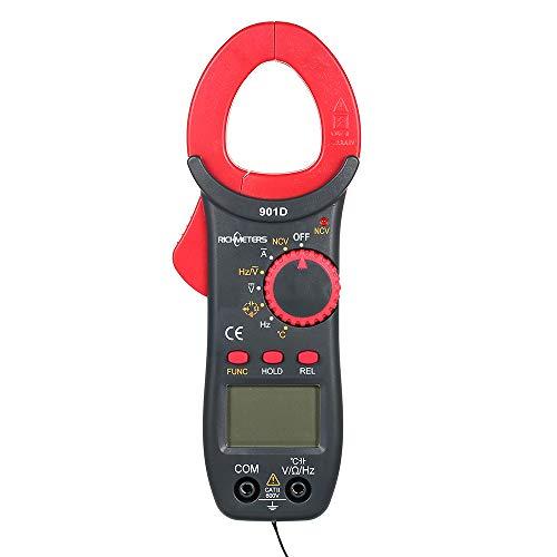 Festnight RM901D Pinza amperimétrica digital 4000 Counters NCV Medidores de voltaje AC/DC de rango automático Resistencia de frecuencia Poetable Capacitancia Diod Multímetro de medición de