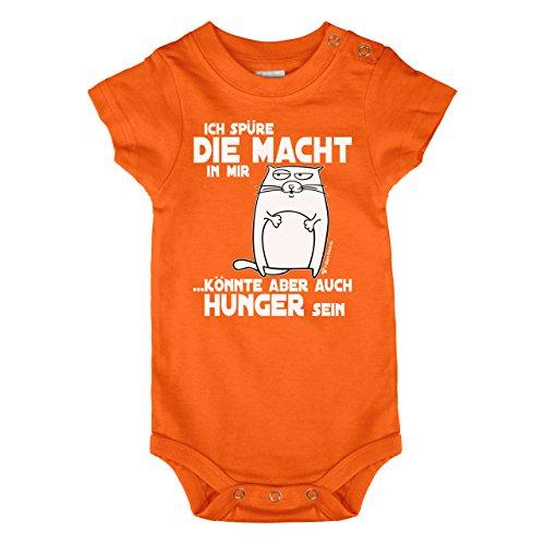 Babybody - Baby Body - Geburt - Ich spüre die Macht in mir ... könnte aber auch Hunger sein - Mit diesem coolen Babyspruch, auf einem farbenfrohen Babybody gedruckt. verschiedene Grössen ein ideales Geburtsgeschenk (68 - 74)