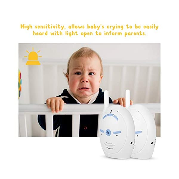 Digital Audio Baby Monitor - Wireless Digital Audio Baby Monitor Nanny Intercom Electronic Alarm Two-Way and Talk Back Intercom(UK)  ✿✿Built-in microphone for two-way conversation and audio monitoring. Whenever you use this baby monitor, you can talk to your baby anytime, anywhere. ✿✿Made of high-quality materials, it is corrosion-resistant, wear-resistant, durable and can be used for a long time. Easy to match, plug and play. ✿✿Sensitive, you can easily hear the baby crying and inform your parents. When you are not around your child, our baby monitor is your best helper! 5