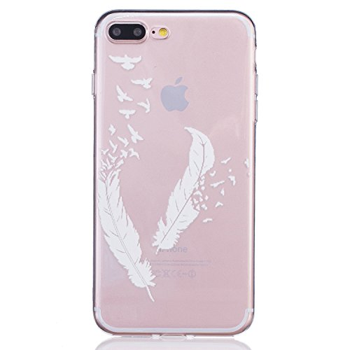 Cozy Hut ® Apple iPhone 7 PLUS Hülle | Premium iPhone 7 PLUS Cover | Tasche | Crystal – Clear | Etui | Silikon | Case | Schutz-Hülle | Bumper | transparente Weicheplastik Rückschale | flexible TPU Bumper - Flügel