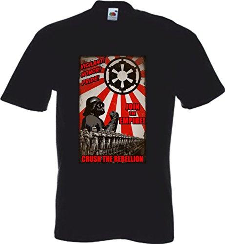 RISKYT - Camiseta - Cuello redondo - para hombre negro negro Small