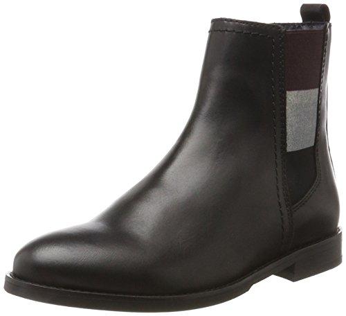 Hilfiger Denim Damen G1385ENNY 16A2 Chelsea Boots, Schwarz (Black), 41 EU