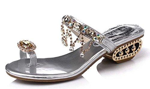 minetom-donna-ragazza-estate-dolce-boemia-strass-perline-sandali-modello-con-infradito-piatte-scarpe