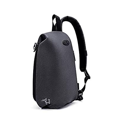 AH Arctic Hunter Mens Water Resistant Sling Backpack,One Shoulder Bag Purse,Crossbody Shoulder Bag,Hiking Daypack with Audio Jack and USB Charing, Day-to-Day Travelling Make You Hands-Free.