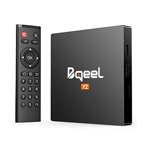 Bqeel Android TV Box 【2GB+16GB】 TV Box Android 7.1 Boîtier Multimédia Y2 H.265 HD Vidéo Quad-Core 64bit Wi-FI 2.4G 802.11 b/g/n Gigabit 4K Smart TV Box