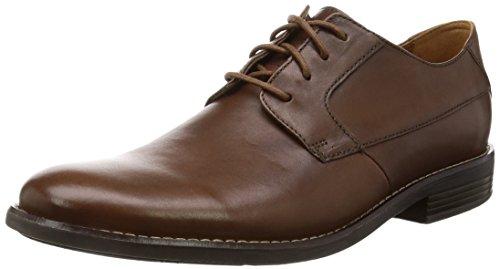 Clarks Herren Becken Plain Derbys, Braun (Tan Leather), 43 EU
