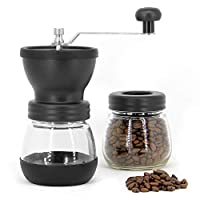 Manual Coffee Bean Grinder | Adjustable Coarseness Ceramic Mill | Hand Held Coffee Mill | Compact Crank For Home, Office & Travelling | M&W