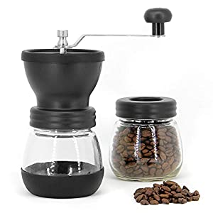 Manual Coffee Bean Grinder   Adjustable Coarseness Ceramic Mill   Hand Held Coffee Mill   Compact Crank For Home, Office & Travelling   M&W