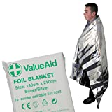 Value Aid Adults Foil Blanket - Pack of 6