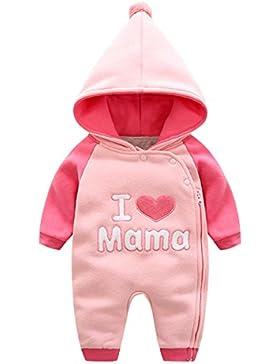 Bebone Baby Kleidung Mädchen Winter Strampler I Love Mama I Love Papa