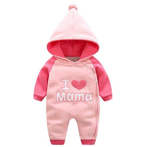 Bebone baby Kleidung Mädchen Winter Strampler I Love Mama I Love Papa (I Love Mama 2, 12-18Monate/80cm) (Winter Mädchen Kleidung Herbst)