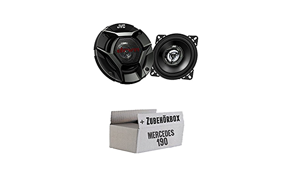 Jvc Cs Dr420 10cm 2 Wege Koax Lautsprecher Einbauset Für Mercedes 190 W201 Front Just Sound Best Choice For Caraudio Navigation