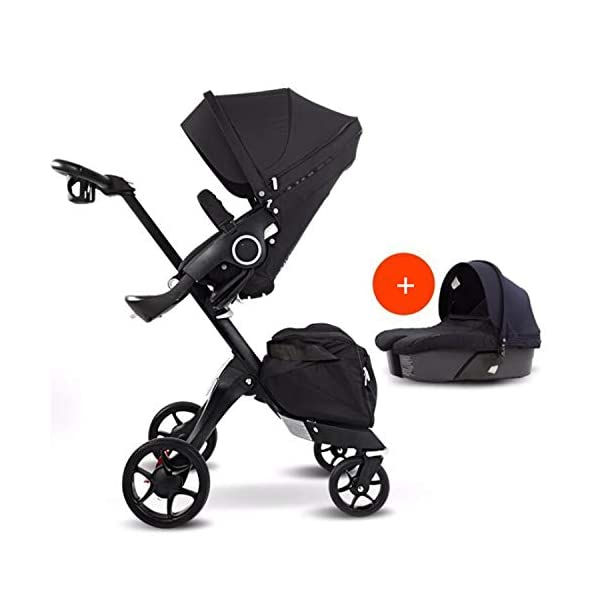 BABIFIS 75cm High Landscape Stroller Hand Can Sit Reclining Folding Shock Absorber Baby Stroller I BABIFIS 75CM high landscape, two-way adjustment, SUV-level suspension, multi-turn adjustment, away from the car exhaust, breathing fresh air Height-adjustable, no need to change chairs, and easy to eat in parallel with most dining tables As a two-way adjustment, two orientations towards three seats, two-way implementation,Sleeping basket can be carried independently, 0-6 months baby's comfortable cot 1