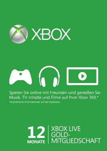 Xbox Live - Gold-Mitgliedschaft 12 - Gold-mitgliedschaft Xbox 360