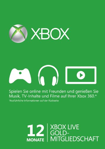 Xbox Live - Gold-Mitgliedschaft 12 Monate