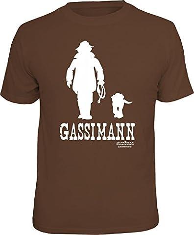 Original RAHMENLOS T-Shirt für den Hundebesitzer: Gassimann Größe M,