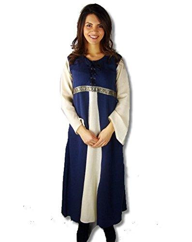 Kostüm Piccolo - Leonardo Carbone Mittelalter Kleider kleine Maid - Kinder Adelskleid - Kinder Piccola Donna XS/blau / natur