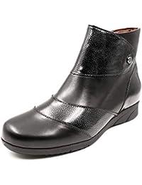 Botines Mujer Pitillos en Piel Color Negro con Cremallera, tacón 5cm - 2801-571