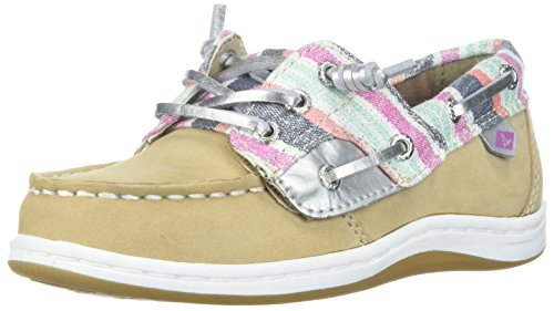 Sperry Girls' Songfish A/C Boat Shoe (Toddler/Little Kid),Sparkle,12 Wide US Little Kid