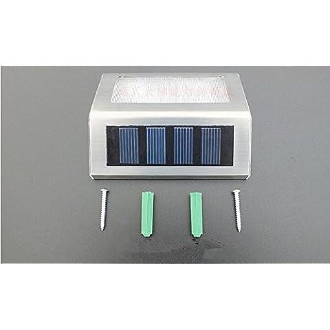 WHH/ Lampada luce/led illuminazione/strada illuminazione/giardino illuminazione/impermeabile luci/ancoraggio solare luci/scala , white