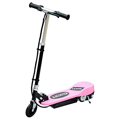 homcom Monopattino Scooter Elettrico per Bambini 120W Pieghevole Struttura in Metallo, 81.5 x 37 x 96cm, Rosa