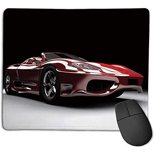 Autos,Automobilindustrie Thema Kraftvoller Motor Schnelle Technologie Prestige Leistung Dekorativ,Rot Schwarz Weiß,Geeignet für jede Maus t 30X25CM