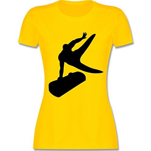 Sonstige Sportarten - Turnen - tailliertes Premium T-Shirt mit Rundhalsausschnitt für Damen Gelb