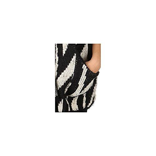Ideal Shoes–by Swan–Gilet duveteux a maniche corte Norma Nero
