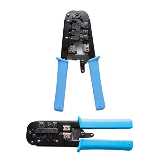 PremiumX PX-556 Crimpzange Telefon- Netzwerkzange RJ45 RJ11 + Abisolierer -