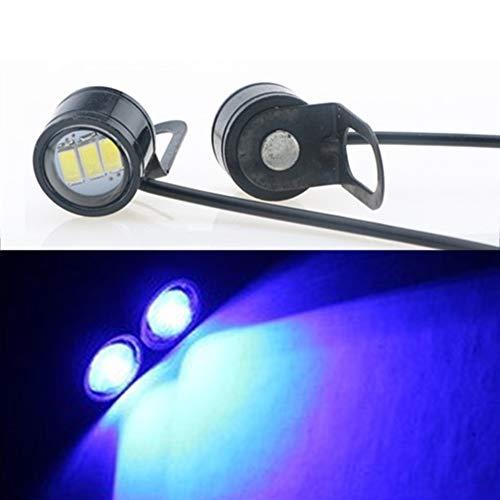 GeKLok fari moto faretti a LED, universale nero supporto universale 17,8cm bici faro LED indicatore di direzione, per moto bici auto barca camion