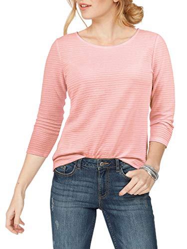 ELFIN Damen Sweatshirt Rundhals Langarmshirt Ladies Pullover mit 3/4 Ärmel Casual Oberteile -