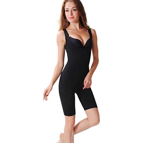 XIONGMEOW Frauen Magie Bambus-carbon Shapewear Postpartale Butt Lifter Nahtlose Körperformer Bauch Control Korsett Body Größe S-XXXL, black, xxxl Control Bambus