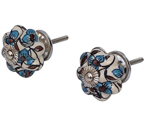 souvnear-ensemble-de-2-ceramique-boutons-ronds-peints-a-la-main-blanc-brillant-bleu-et-rouge-de-coul