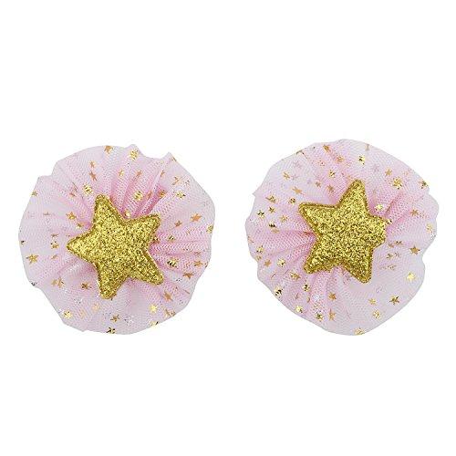 Lux Accessoires Rose étoiles Paillettes Accessoires Cheveux Bébé Enfant Fille Clip Set 2PC