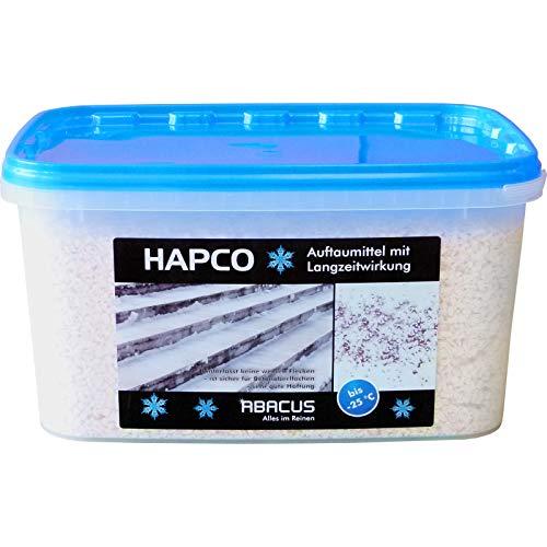 HAPCO 5 KG (4049) - Auftaumittel Streusalz Schnee-Weg Schnee-Auftaumittel Taumittel Calciumchlorid Calcium-Chlorid - ABACUS (Schnee Weg)