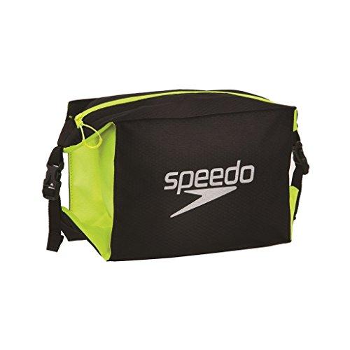 speedo-pool-side-bag-au-borsone-piscina-mare-nero-giallo-fluo-taglia-unica