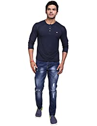 Dadddy's Style Men's Ripped Slim Fit Straight Moscowtic Jeans Pants Vintage Style With Broken Holes With Balloon...