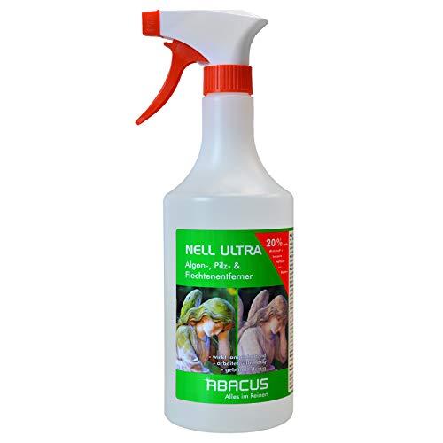 ABACUS Nell Ultra 750 ml gebrauchsfertig - Algenentferner Pilzentferner Flechtenentferner Grünbelagsentferner Grabsteinpflege Moosentferner Algizid Algicid Algenex Algenvernichter Algenkiller