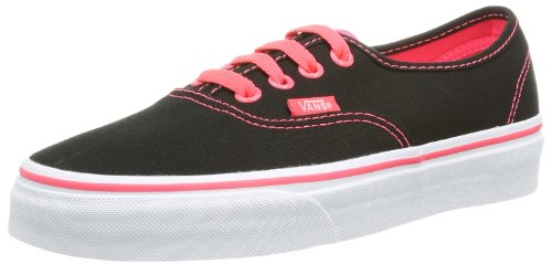 Vans - U Authentic (Pop) Black/neo, Sneaker Unisex – Adulto Nero (Schwarz ((Pop) black/neo))