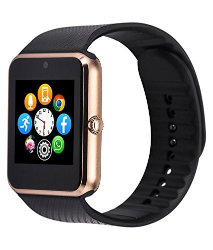 Google Nexus 5 Apple Smart Watch (42 mm) Compatible Bluetooth Smart Watch GT08 Wrist Watch Phone with Camera & SIM Card Support Hot Fashion New Arrival Best Selling Premium Quality Lowest Price with Apps Touch Screen,multi Lnaguage with Android Ios mobile tablet iphoneBLACK By JOKIN  available at amazon for Rs.1599