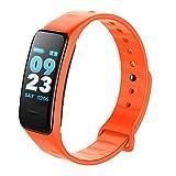 JIANGfu Ck11s Bracelet pression artérielle montre sang oxygène moniteur de fréquence cardiaque Smart Watch tracker de fitness montre, Orange, 245mm*15mm*4mm