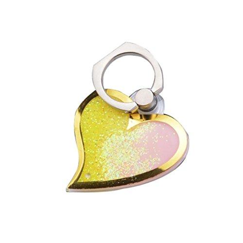 squarex Handy Halter Form Metall Finger Spiegel Ring Ständer Halter Handy Halterung, gelb (Schwarz Platte Fiesta)