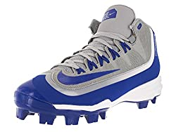 Nike Men's Huarache 2kfilth Pro Mid Mcs Wolf Greygame Royalwhite Baseball Cleat 8.5 Men Us