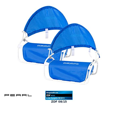 PEARL Kopfstütze Strand: Nacken-Kissen mit Sonnenschutz für Strand und Outdoor 2er-Set (Sonnenschutz Kopf Strand)