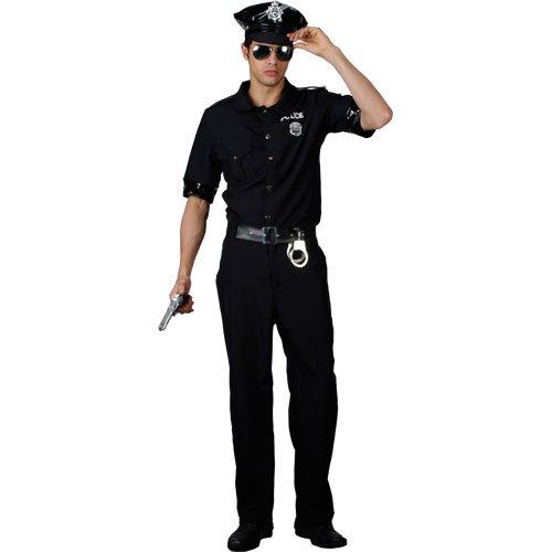 Männer Kostüme Polizei Für (Herren New Yorker Polizisten-Kostüm, Größe)
