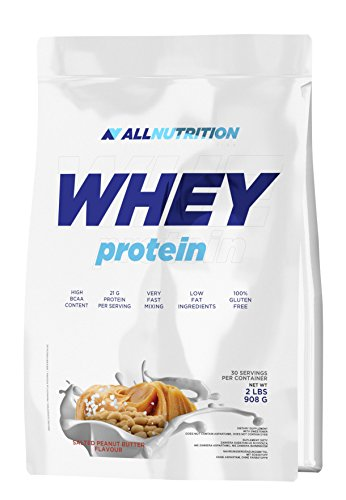 ALLNUTRITION Whey Protein Eiweiß Shake Molkeprotein Bodybuilding (908g Double Chocolate - Schokolade) -