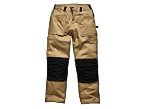 Dickies 493034RK Regular Grafter Trouser 34-inch Waist - Khaki/ Black