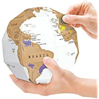 Aibecy Creativo DIY Scratch Globe 3D Asamblea Estéreo Mapa del Mundo de Viajes Kid Niño Regalo Tellurion